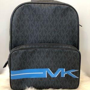 NWT Michael Kors Jet Set Men's Backpack Blk/Blue